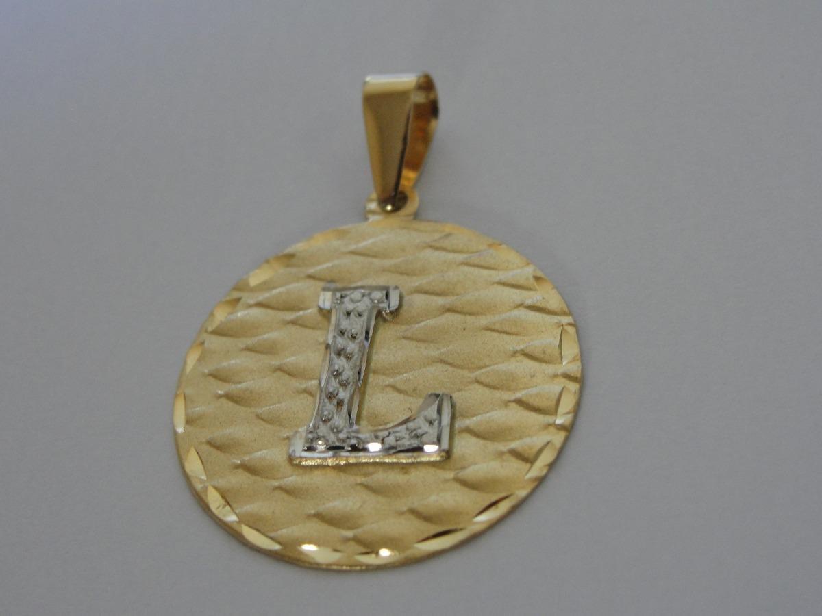 Pingente   Medalha De Ouro 18k Com Letra L - R  1.069,00 em Mercado ... f3a12fdef2