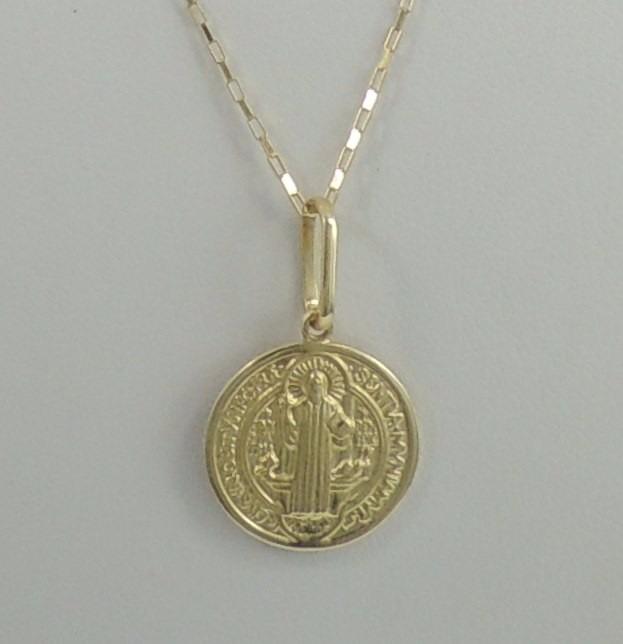 4d3c168ef1f81 Pingente Medalha De São Bento P Ouro 18k 750 Super Promoção - R  320,00 em  Mercado Livre