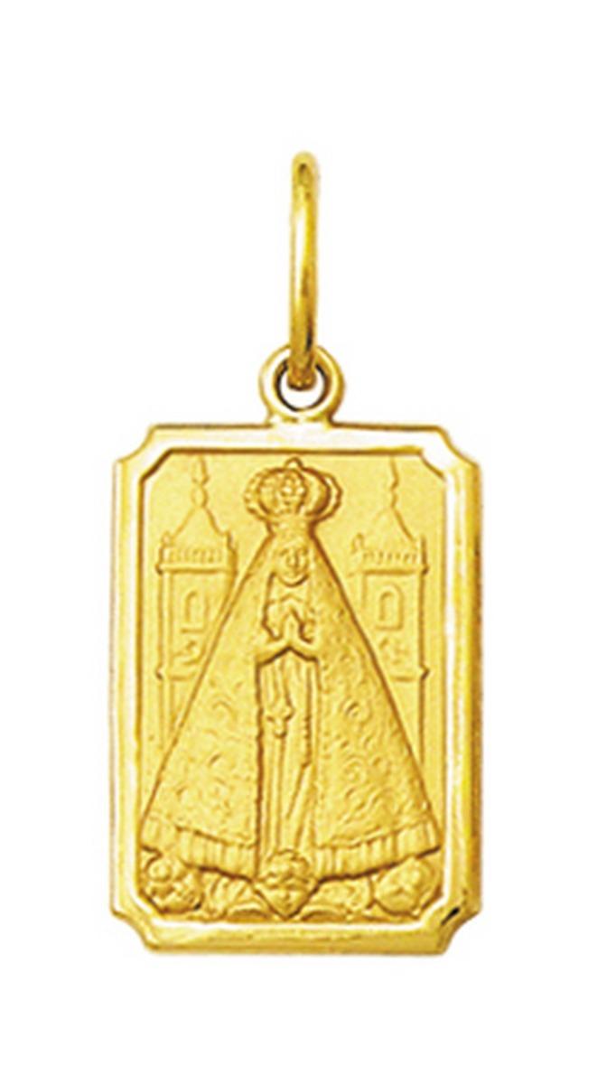 pingente medalha nossa senhora aparecida ouro 18k grande. Carregando zoom. c1305d2017