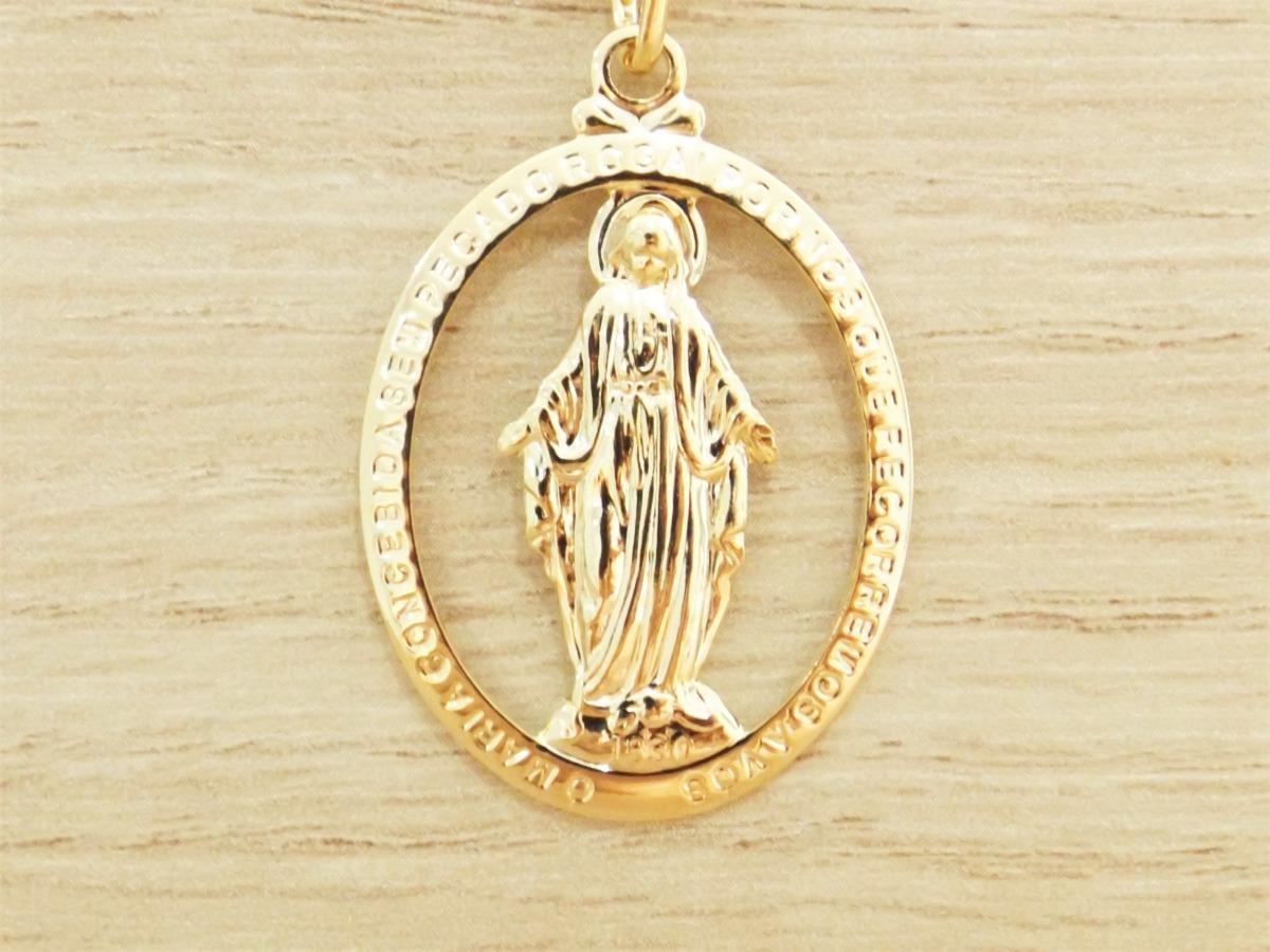 af4937c192422 pingente medalha nossa senhora das graças folheado ouro. Carregando zoom.