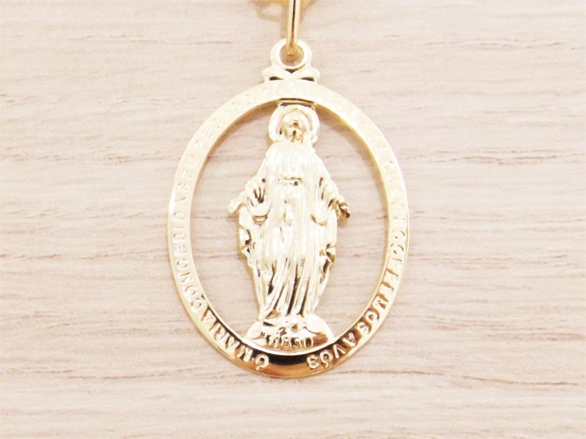 31e38c9ae011e pingente medalha nossa senhora das graças folheado ouro. Carregando zoom.
