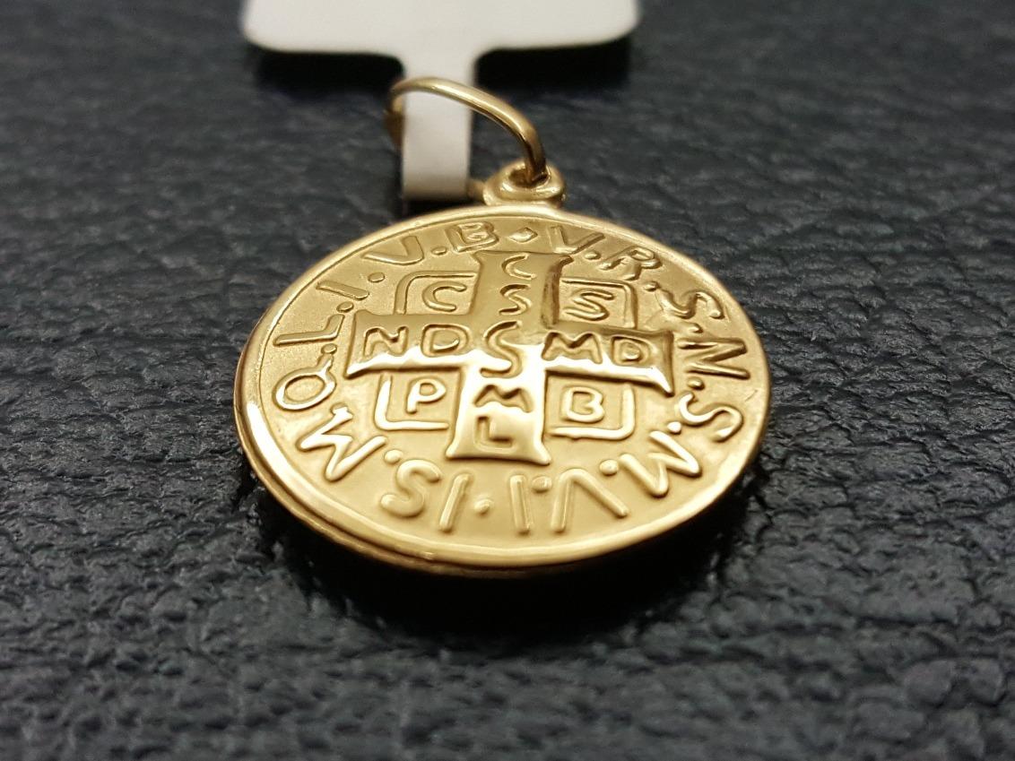 pingente medalha ouro 18k cruz de são bento (promoção!) Carregando zoom. 7c54d5593b