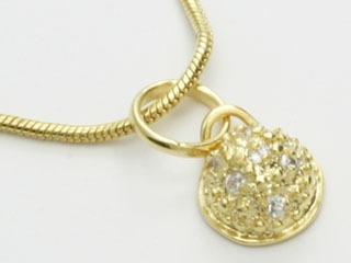 pingente meia bola 7 zircônias folheado ouro rommanel 540843