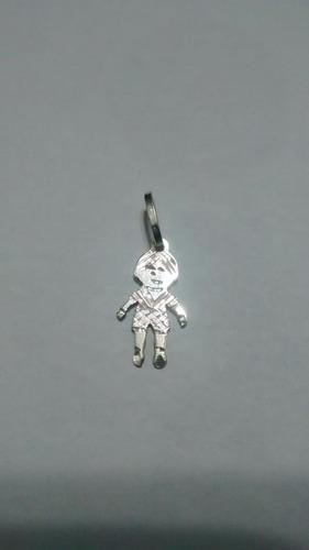 pingente menino em prata
