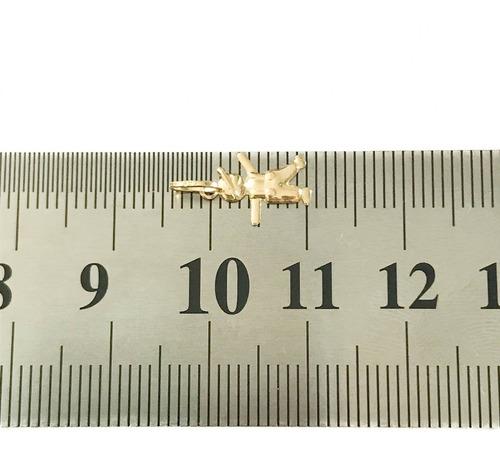 pingente menino ou menina uma graça de joia em ouro 18k-750