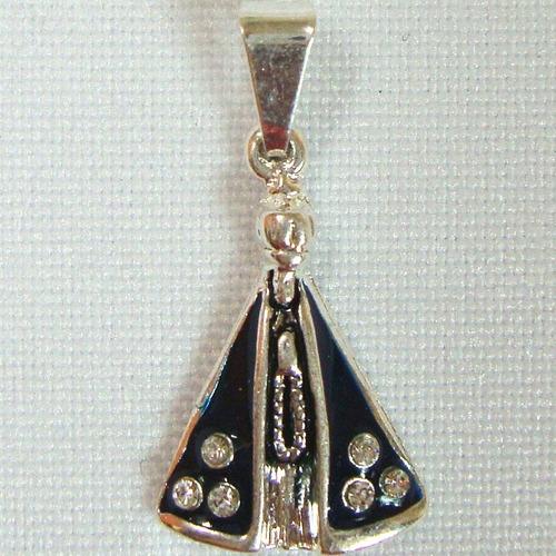 pingente nossa senhora aparecida 23mm folheada prata pi199