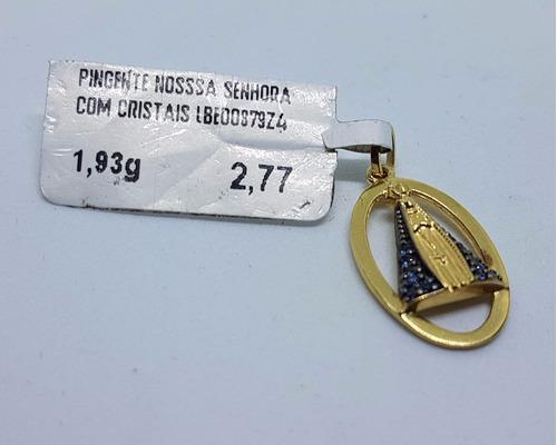 pingente nossa senhora aparecida em ouro 18k 750 1.93g