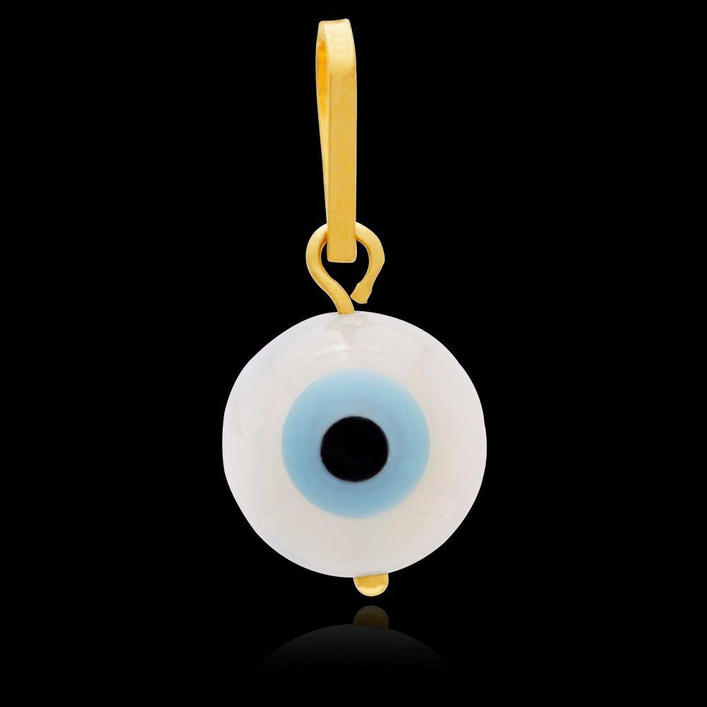 25718c027ee10 pingente olho grego 7mm em ouro 18k. Carregando zoom.