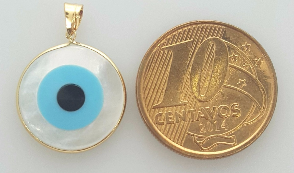 bf97034451ba4 pingente olho grego madreperola ouro 18k - pi15 - 1.20gramas. Carregando  zoom.