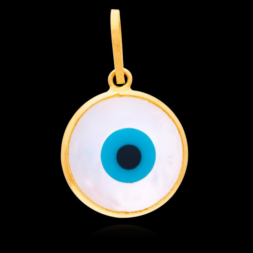 f21ef4d355399 pingente olho grego pastilha madrepérola 10mm em ouro 18k. Carregando zoom.