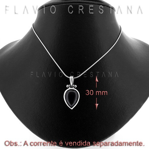 pingente onix natural, prata 925, fabricacao propria - 31056