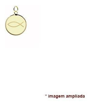 pingente ouro 18 quilates peixe de jesus, símbolo cristão