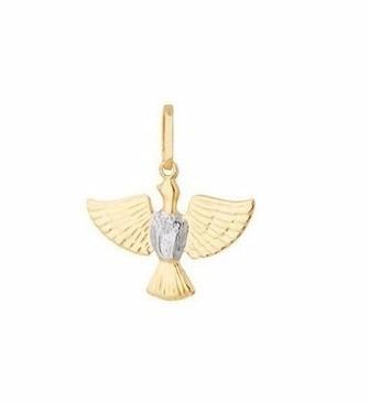 Pingente Ouro 18k-750 Divino   Pomba Da Paz-volvino P17 - R  161 ... 1e9269ad5a