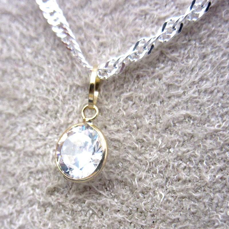 2a9566563760d Pingente Ouro 18k 750 Zircônia Ponto De Luz 5mm - R  49,00 em ...