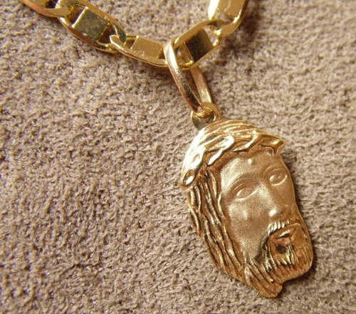 pingente ouro 18k face de jesus cristo