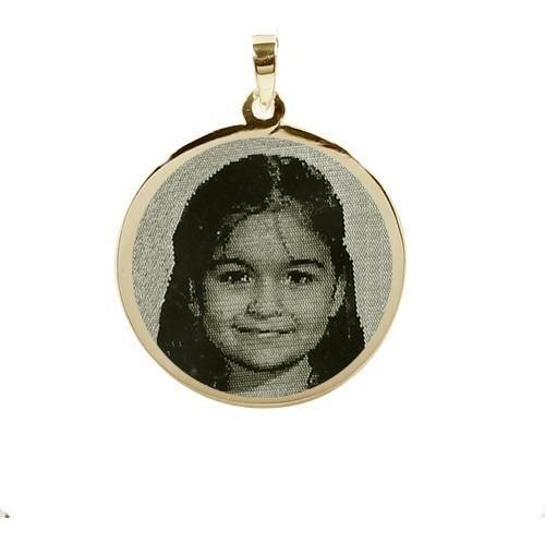 pingente  ouro 18k personalizado c. foto - fotogravação pg10