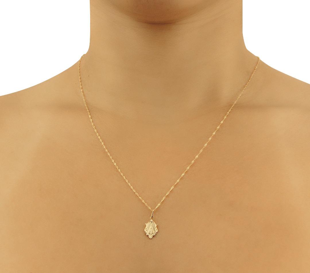 Pingente De Ouro 18k Nossa Senhora Aparecida - Aubra Joias - R  135 ... 2e13978b60
