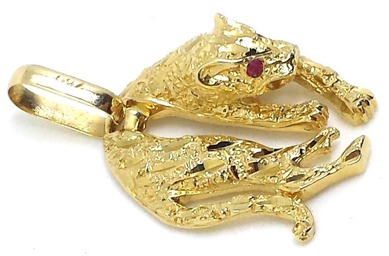 25740351b2b56 Pingente Pantera De Ouro 18k - R  1.878,92 em Mercado Livre