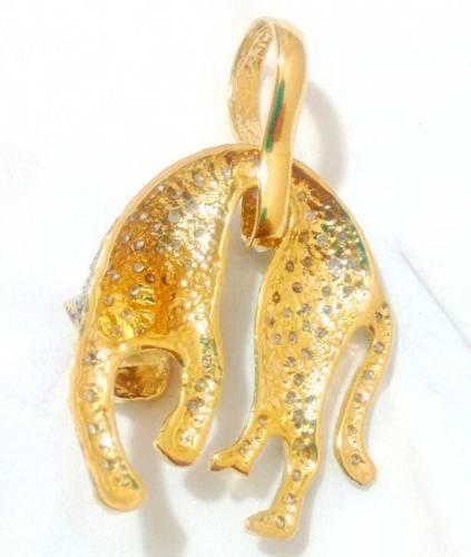 98def8acd8f7d Pingente Pantera Ouro Amarelo 18k E Diamantes - R  2.700