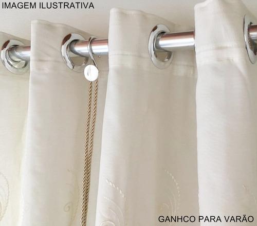 pingente para cortinas strass bella arte infinity cilindro
