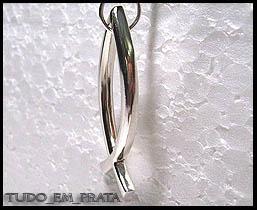 pingente peixe em prata - símbolo cristão, com cordão