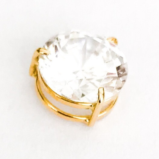 e2cddaaf73ef2 Pingente Ponto De Luz Ouro 18k Pedra Zircônia 8mm Cissa - R  121,90 em  Mercado Livre
