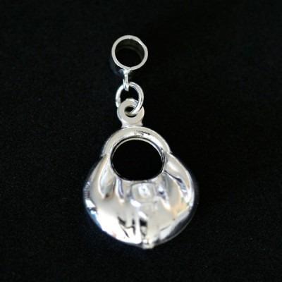 pingente prata 925 bolsa para pulseira momentos de vida