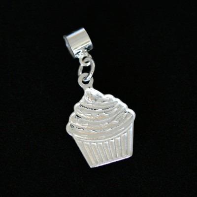 pingente prata 925 cupcake para pulseira momentos de vida