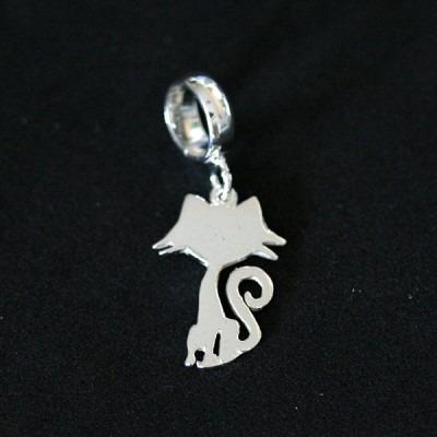 pingente prata 925 gatinho para pulseira momentos de vida