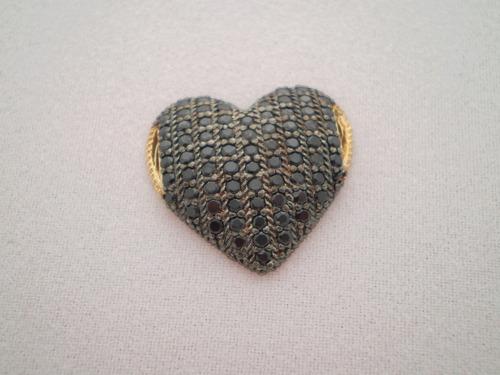 pingente prata banho ouro e pedras pdr-504-8 frete grátis