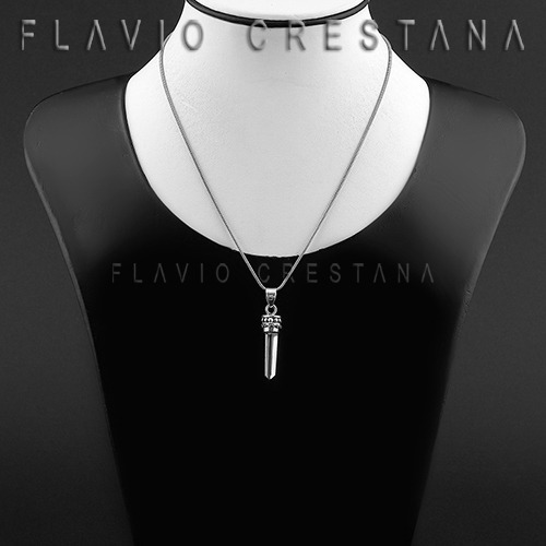 pingente quartzo branco, cristal natural, prata 925, india -