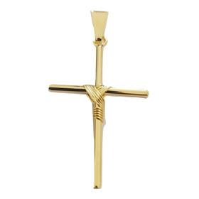 Pingente Rellicari Crucifixo Banhado A Ouro 18k R012