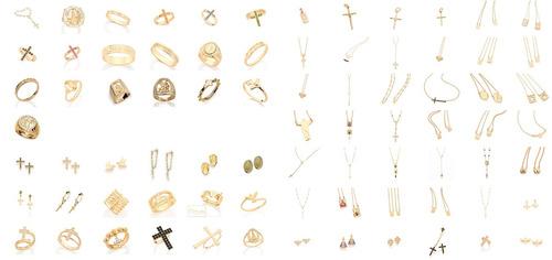 pingente rommanel 1,5cm folheado ouro 541854 mae