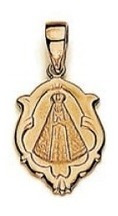 pingente rommanel 540511 2,3cm folh ouro artigo religioso