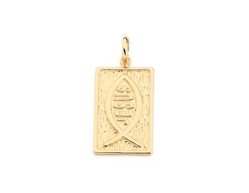 pingente rommanel 541752 1,9cm folh ouro artigo religioso