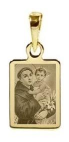 pingente santo antonio ouro 18 quilates p colar pg21