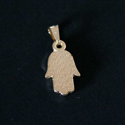 pingente semi jóia folheado a ouro amuleto hamsá