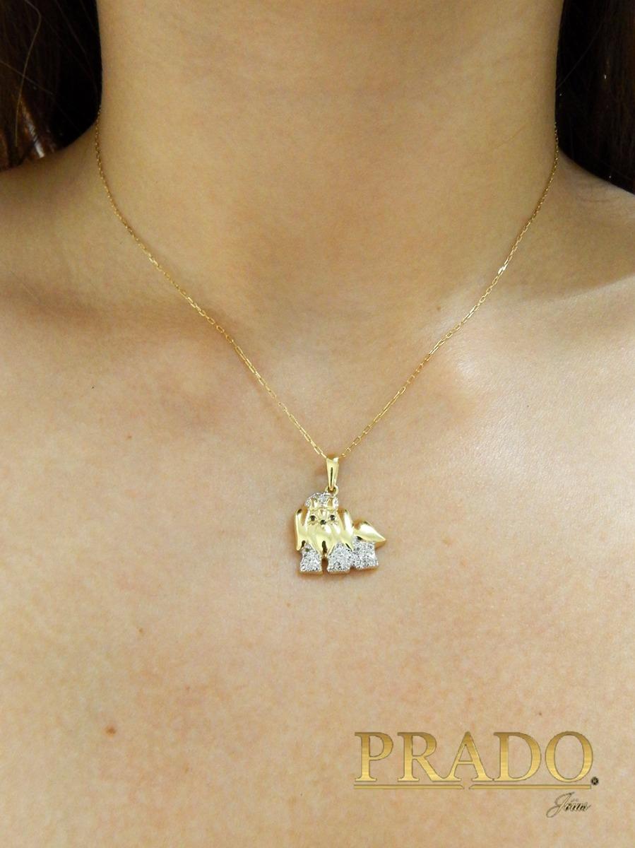 c1e1d70760d Pingente Shih Tzu Com Corrente Cartier Em Ouro 18k - R  850