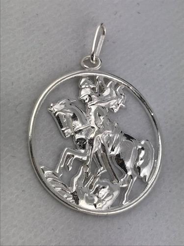 pingente são jorge 3 cm em prata 925