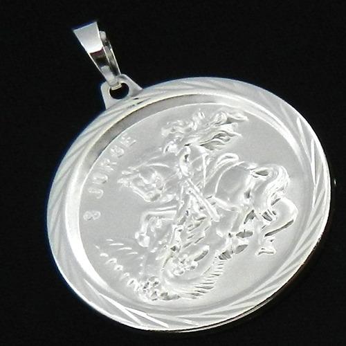 pingente são jorge 4cm folheado prata pi209