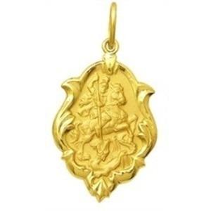 pingente são jorge em ouro 18k ornato 2,10cm 1,3g
