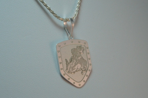 pingente são jorge (ppi08036)  prata 925 corte a laser