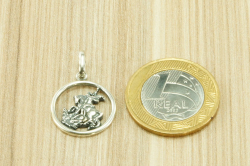 pingente são jorge prata 925 (l2,5)
