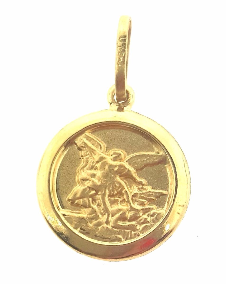 457dbe849c967 pingente são miguel arcanjo ouro 18k decolar joias 1.05grs. Carregando zoom.