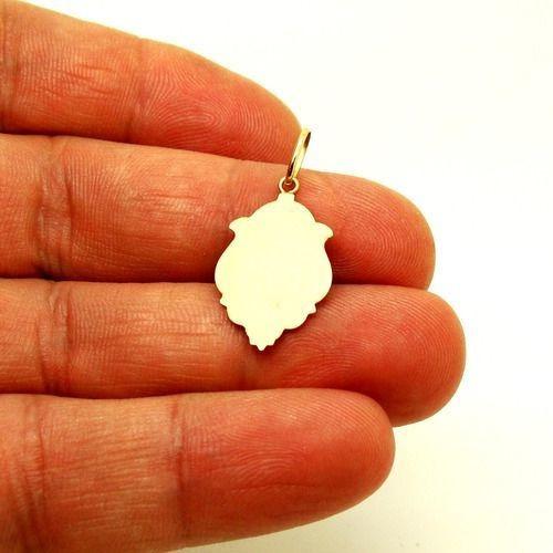 pingente são sebastião em ouro 18k ornato 1,5cm 0,70g