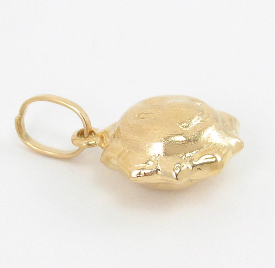 841ee4393b1 Pingente Sol Dupla Face Gordinho Todo Em Ouro Amarelo 18k. - R  349 ...