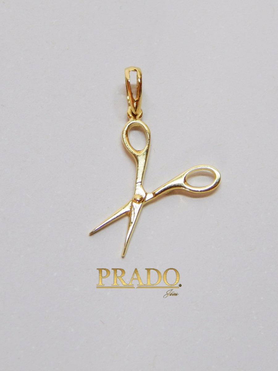 87db60344a6 pingente tesoura cabeleireira com corrente cartier ouro 18k. Carregando  zoom.