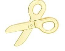 pingente tesoura folheado a ouro 18k frete grátis