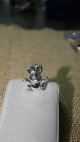 pingente topo gigio em prata 925k -  51