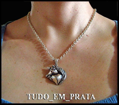 pingente unicórnio em prata exclusivo - somente o pingente